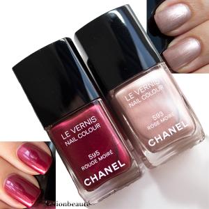 Chanel rouge moiré rose moiré swatch